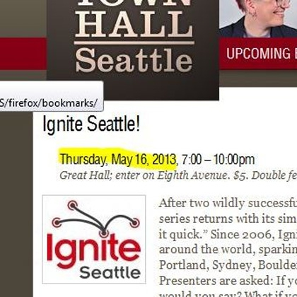 Small words – Town Hall talk for Ignite Seattle